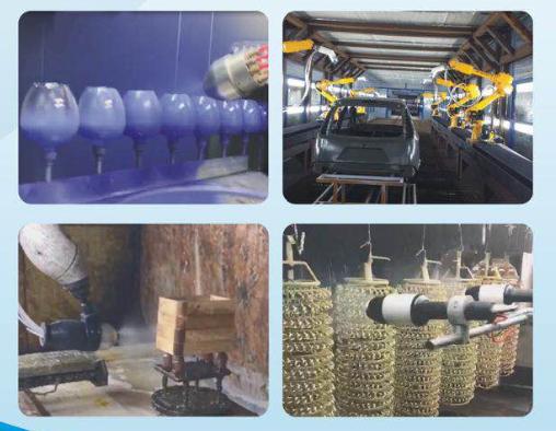 HDA bell auto electrostatic robot coating machine |www.hdaspraygun.com